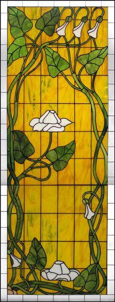 Art Nouveau Flower Design - Delphi Stained Glass