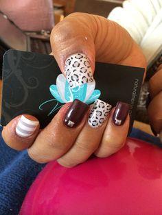 Nails Art, acrylic nails, animal print