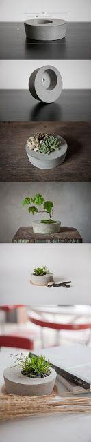 15 DIY Cement Ideas For A Chic Minimal Design-homesthetics - large black pur., 15 DIY Cement Ideas For A Chic Minimal Design-homesthetics - large black purse, bags leather handbags, handbag shopping online *sponsored www. Concrete Cement, Concrete Crafts, Concrete Projects, Concrete Design, Cement Pots, Diy Garden, Garden Art, Garden Design, Garden Ideas