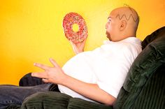 My brother, a Leukemia survivor, as Homer Simpson of 'The Simpsons' for 'Famously Bald'