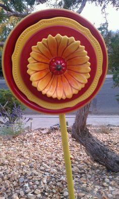 Sun flower plate