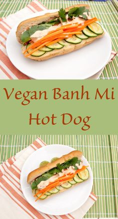 ... your vegan hot dogs? These Vegan Banh Mi Hot Dogs will hit the spot