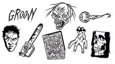 Evil Dead tattoo designs