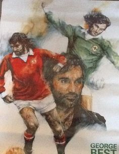 George Best (1946-2005) Football Art, Sport Football, Football Posters, Soccer, George Best Quotes, Northern Ireland Fc, Professional Football, Red Army, Great Team