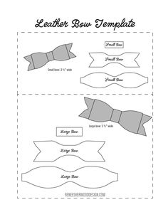 FREE No Sew Leather or Felt Bow Template download at www.reneesherwooddesign.com