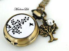 Uhrenkette+♥+Lebensbaum+II+♥+Bronze+von+MadamLili+-+Lebensfreude+zum+Tragen!+:)+auf+DaWanda.com