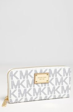 MICHAEL Michael Kors 'Signature Jet Set' Zip Around Wallet available at #Nordstrom