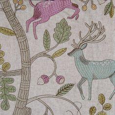 'Fergus' in Mulberry, Voyage Fabrics