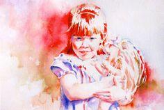 Custom Watercolor Portrait - Commissioned Professional Original Painting - Family Portrait - Child Portrait - Adult Portrait - Watercolor