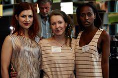 Designerin Inga Lieckfeldt mit Model Klara Kamm & Yolanda Beirao