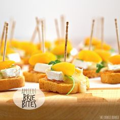 Mini Apricot & Brie Bites are the perfect party or tailgate appetizer! Easy, delicious, and quick! Bake in airfryer at 200 deg for around 5 minutes or till cheese is melty.