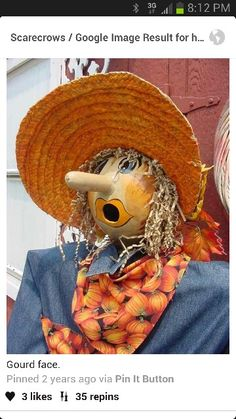 Fall scarecrow! Too cute!