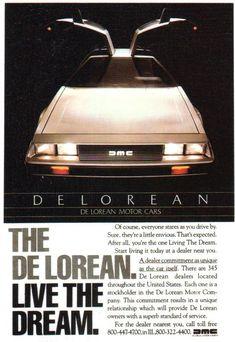 DeLorean DMC-12 ad