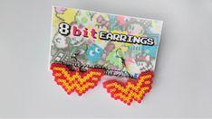 Wonder Woman Earrings - Comic Book Earrings, Hook or Clip-On, Geek Gifts, Pixel… Mini Hama Beads, Pearler Beads, Fuse Beads, Perler Earrings, Bead Earrings, Hama Beads Patterns, Beading Patterns, Nerd Gifts, Iron Beads