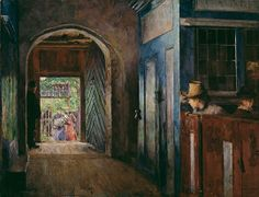 Harriet Backer - Christening in Tanum Church, 1892 at National Museum of Art Oslo Norway Lund, National Gallery, Google Art Project, National Museum, Oslo, Contemporary Paintings, Art Google, Art Museum, Art History