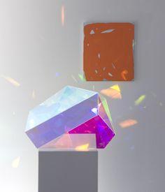 Gemma Smith acrylic 'Boulder' sculpture.