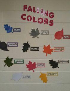Fall classroom decor: colors