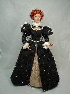 Madame Alexander's Queen Elizabeth I Ooak Dolls, Barbie Dolls, Isabel I, Valley Of The Dolls, Elizabeth I, Miniature Dolls, Miniature Houses, Madame Alexander Dolls, Period Costumes