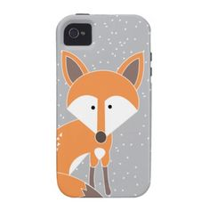 Little Fox in the snow illustration, Vibe iPhone 4 Cover $47.95
