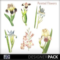 #Painted Flowers #artforscrapbooking #MyMemories.com #digital #scrapbooking