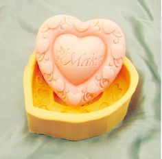 Bright Heart Design Silicone mold Handmade Soap Mold Biscuit Mold