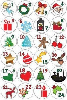 Advent calendar in toilet paper rolls - Advent calendar to make - Diy Projects Disney Christmas Decorations, Christmas Activities, Christmas Crafts For Kids, Xmas Crafts, Christmas Printables, Christmas Projects, Kids Christmas, Handmade Christmas, Christmas Gifts