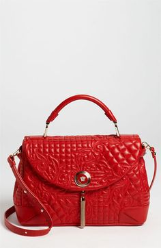 Versace 'Vanitas' Embroidered Nappa Lambskin Leather Satchel available at Nordstrom