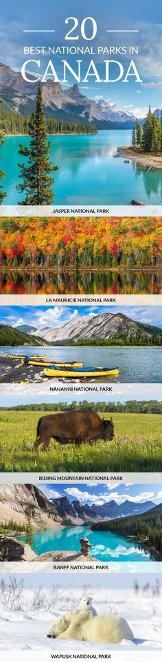 Click pin to discover the best national parks in Canada. #Canada