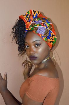 Exciting New Head Wrap Styles ~ Switch Afrique Pigtail Hairstyles, Bobby Pin Hairstyles, Headband Hairstyles, Braided Hairstyles, Hair Scarf Styles, Hair Turban, African Head Wraps, Head Wrap Scarf, Twist Headband