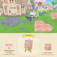 Animal Crossing New Horizons Qr Codes Animal Crossing Guide, Animal Crossing Villagers, Animal Crossing Qr Codes Clothes, Path Design, Brick Design, Pink Animals, Cute Animals, Pink Island, Island Map