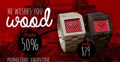 A wood watch for your lover this Valentines day?http://bestauthenticwatches.com/bag-bargain-valentines-thegarwood/