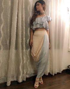 Mouni Roy looks ravishing Indian Gowns Dresses, Indian Fashion Dresses, Indian Designer Outfits, Fashion Outfits, Bridal Dresses, Wedding Dress, Women's Fashion, Stylish Dress Designs, Stylish Dresses