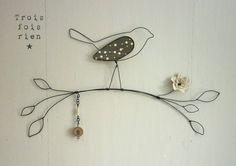 Oiseau fil de fer N°9 : Décorations murales par trois-fois-rien