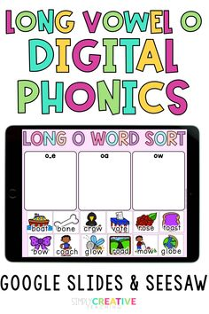 Are you teaching Long Vowel O to your 1st and 2nd grade students? Then check out this DIGITAL Long Vowel O (o_e, oa, and ow) phonics word work unit! Available for use with Google Slides, Google Classroom, and Seesaw. Students will love the variety of fun activities including word sorts, long o spelling, sentences, rhyming, and more! These distance learning Long O Vowel Digital Phonics activities are completely paperless. Shop now and add to your lesson plans today!