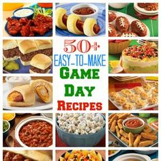 50  Easy to Make Game Day Recipes