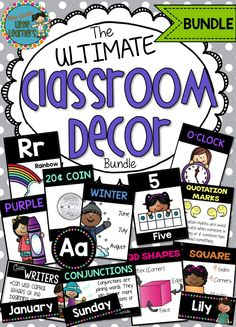 Classroom Decor Pack. Back to School. Australian Money, 2D and 3D Shapes, Number and Alphabet Posters, Colours, Name Labels, Classroom Labels, Parts of Speech, Punctuation AND MORE!!