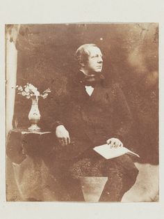 Portrait of Willliam Henry Fox talbot, 1845. Salted paper print from calotype negative.
