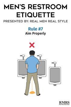 Men39s restroom etiquette infographic for Male bathroom etiquette