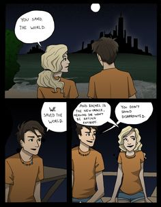 I love this part in the Last Olympian. I cannot express how much Percy and Annabeth make me happy. From this moment. Seaweed Brain- Page 1 Percy Jackson Fan Art, Percy Jackson Books, Percy Jackson Fandom, Magnus Chase, Percy And Annabeth, Annabeth Chase, Rick Y, Uncle Rick, Percabeth