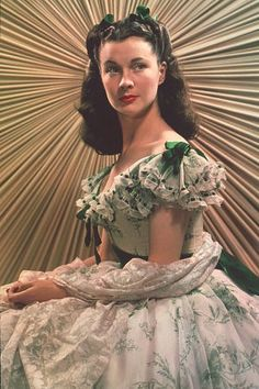 """Vivian Leigh in """"Gone with the Wind""""."""