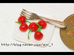 미니어쳐 체리 만들기 Miniature * Cherry - YouTube