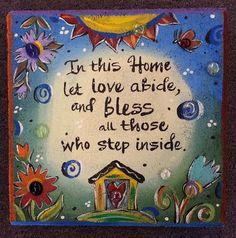 This hand-painted garden stone has a wonderful saying to welcome friends to your home. Or give it as a house warming gift!  Hand-painted
