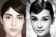Audrey Hepburn makeup diy bangs