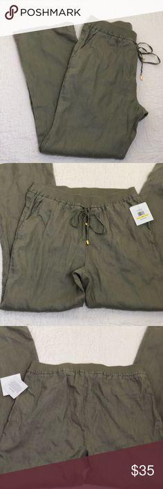 Ellen Tracy Linen Pant Size Medium NWT Ellen Tracy Linen Pant NWT Size Medium Ellen Tracy Pants