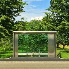 The Jasper Morrison designed Bus Stop for Weil am Rhein on the edge of the Vitra Campus. Yes those are Eames Wire chairs built into the station!!! #jaspermorrison #vitra #vitracampus #weilamrhein #architecture #architectureporn
