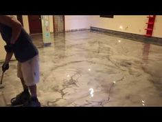 Designer Metallic Epoxy Installation On Ceramic Tile This video demonstrates our metallic epoxy flooring system being installed on top of…