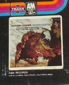 Benny Carter Autumn Leaves Jazz 8-Track Tape by RASVINYL on Etsy
