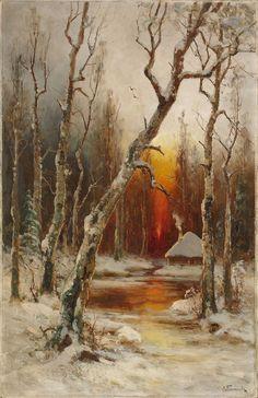 Winter landscape, Semyon Platonov