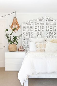 Home Design Ideas: Home Decorating Ideas Bedroom Home Decorating Ideas Bedroom Wow! Love the soothing calm of this all white space with the pretty layers of te...