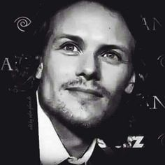 Great black and white of Sam!